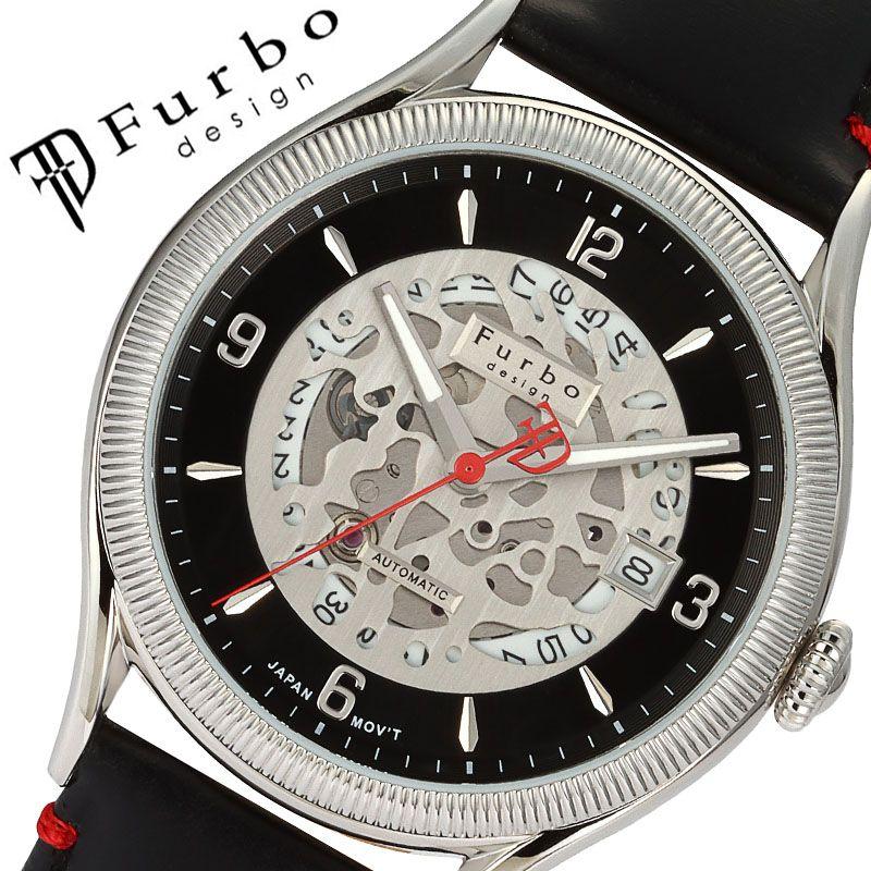 フルボデザイン 腕時計 Furbodesign 時計 フルボ デザイン Furbo design カモフラージュ CAMOFLAGE メンズ ブラック F8204SBKBK [ 人気 ブランド おしゃれ フルボ カモフラージュ ブラック 革ベルト ブラック 大人 かっこいい ゴールド カレンダー イタリア シンプル ]