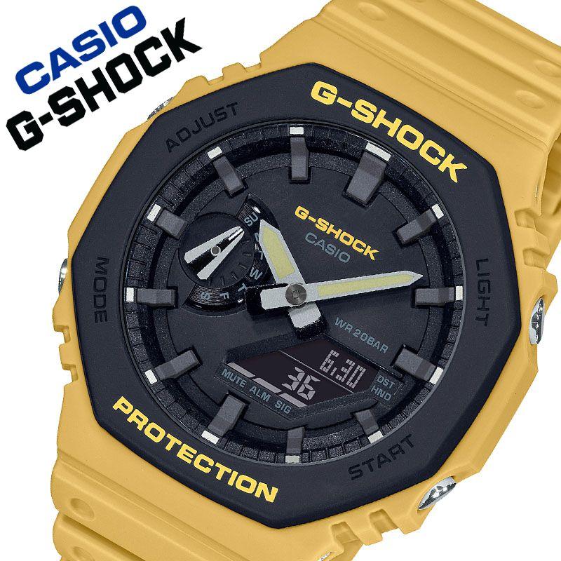 [当日出荷] 【5年保証対象商品】カシオ 腕時計 CASIO 時計 ジーショック G-SHOCK メンズ ブラック GA-2110SU-9AJF [ 人気 ブランド Gショック おしゃれ かっこいい Gショック スポーティー ブラック イエロー 大人 シック ワンポイント ファッション プレゼント ギフト ]