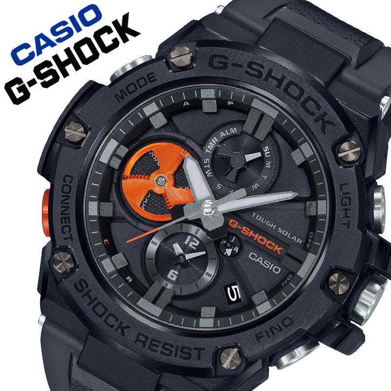 【5年保証対象商品】カシオ 腕時計 CASIO 時計 ジーショック ジースティール G-SHOCK G-STEEL メンズ ブラック GST-B100B-1A4JF [ 人気 ブランド Gショック おしゃれ かっこいい Gショック スポーティー ジースティール メカ オレンジ 光沢 ファッション プレゼント ギフト ]