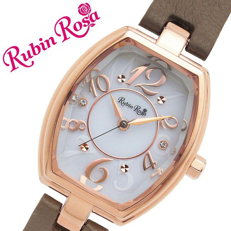 [当日出荷] ルビンローザ 腕時計 RubinRosa 時計 ルビン ローザ Rubin Rosa レディース ホワイト R018SOLPGW [ 人気 ブランド おすすめ おしゃれ 革ベルト 大人 かわいい ビジネス オフィス カジュアル シンプル ちいさめ スワロフスキークリスタル ソーラー ]
