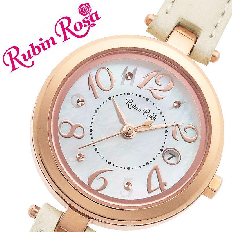 激安単価で ルビンローザ 腕時計 RubinRosa 時計 ルビン ローザ Rubin Rosa レディース ホワイト R220SOLPWH [ 人気 ブランド おすすめ おしゃれ 革ベルト ホワイト 大人 かわいい ビジネス オフィス カジュアル シンプル ちいさめ 丸型 ソーラー ワンポイント プレゼント ], Jeweluce 4c970ac8
