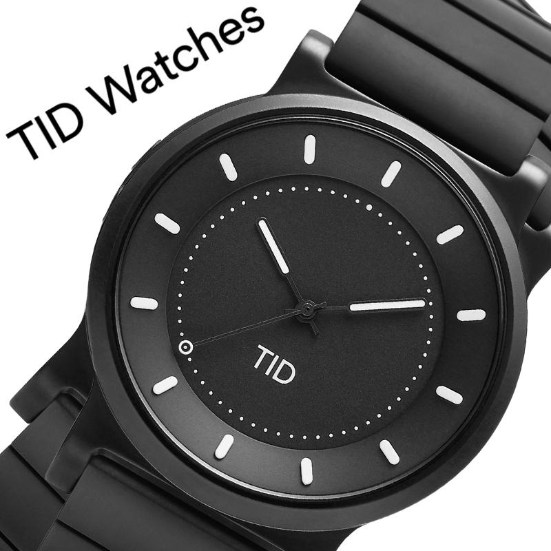 【5年保証対象商品】ティッドウォッチズ 腕時計 TIDWatches 時計 ティッド ウォッチズ TID Watches No.4 40mm メンズ ブラック 40101012 [ ブランド 人気 北欧 シンプル デザイナーズ ウォッチ ミニマル 個性的 シンプル メタル バンド ベルト ガンメタ おしゃれ ]