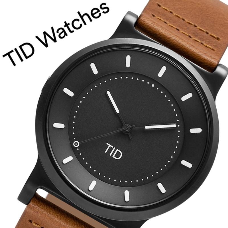 【5年保証対象商品】ティッドウォッチズ 腕時計 TIDWatches 時計 ティッド ウォッチズ TID Watches No.4 40mm メンズ ブラック 40101122 [ ブランド 人気 北欧 シンプル デザイナーズ ウォッチ 個性的 シンプル レザー 革 バンド ベルト 革ベルト ガンメタ おしゃれ ]