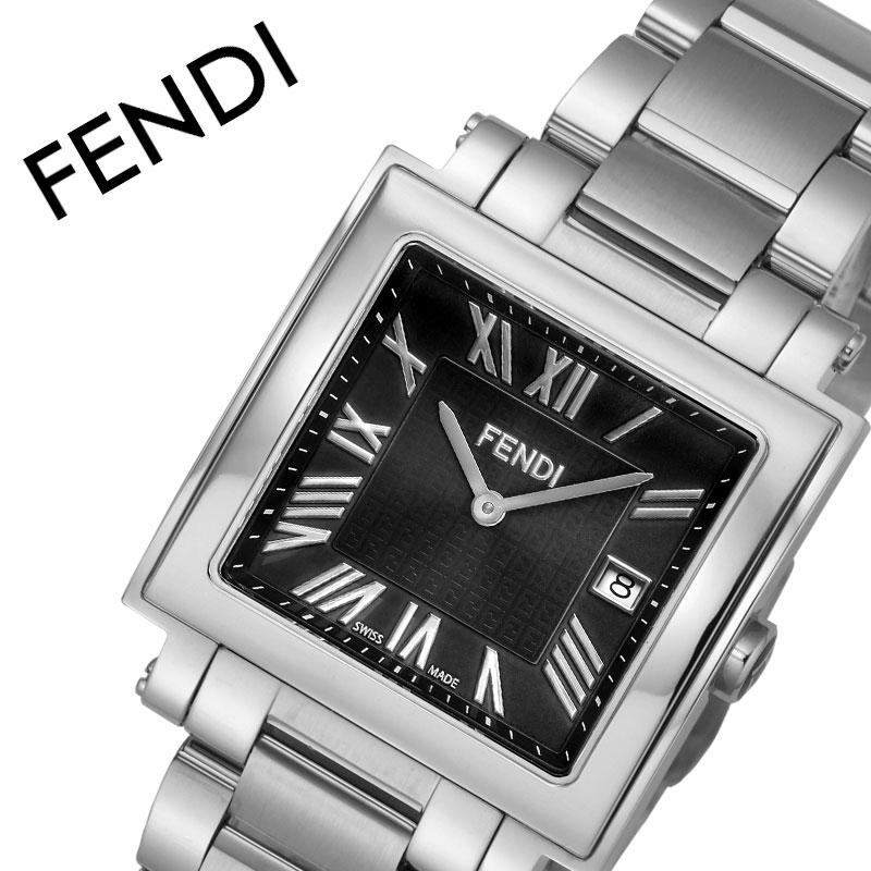 [当日出荷] フェンディ 腕時計 FENDI 時計 クアドロ QUADORO メンズ ブラック F606011000 [ 人気 おすすめ 高級 ブランド 大人 かっこいい メタル ベルト クラシック フォーマル ドレス ビジネス 就職 仕事 彼氏 恋人 ギフト プレゼント ]送料無料