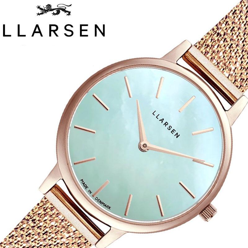 エルラーセン 腕時計 LLARSEN 時計 トレジャー Treasure レディース ホワイト LL146RSTRM [ 人気 ブランド おすすめ おしゃれ かわいい ローズゴールド メタル ブレスレット付き シェル ビジネス カジュアル オフィス 北欧 ジュエリー 上品 アンティーク 彼女 小さめ ]