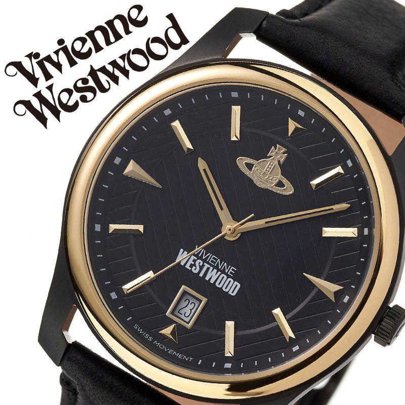 ヴィヴィアンウエストウッド 腕時計 VivienneWestwood 時計 ヴィヴィアン ウエストウッド Vivienne Westwood メンズ ブラック VV185BKBK [ 人気 ブランド ビビアン おすすめ おしゃれ かっこいい カレンダー 革ベルト 大人 男性 彼氏 誕生日 記念日 プレゼント ギフト ]