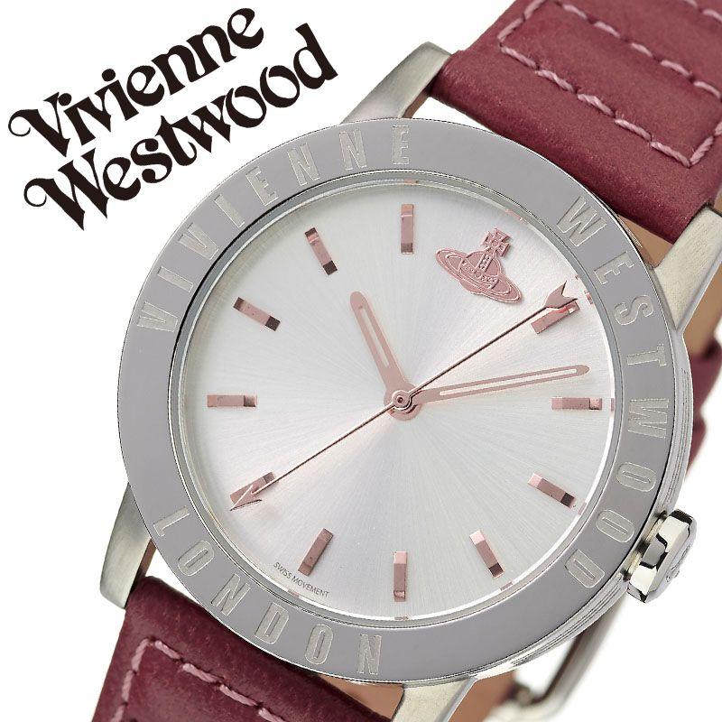 ヴィヴィアンウエストウッド 腕時計 VivienneWestwood 時計 ヴィヴィアン ウエストウッド Vivienne Westwood レディース シルバー VV213SLDPK [ 人気 ブランド ビビアン おすすめ おしゃれ かわいい オーブ シルバー 革ベルト 大人 女性 誕生日 記念日 プレゼント ギフト ]