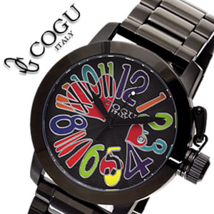 コグ 腕時計 COGU 時計 時計 時計 コグ 時計 COGU 腕時計 コグ腕時計 cogu時計 コグ時計 cogu腕時計 ブラックアウト & マルチカラー メンズ ブラックIP 送料無料 中学生 高校生 大学生 673