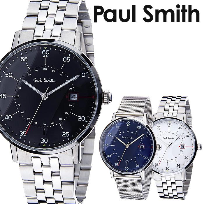 ポールスミス 時計 paul smith 腕時計 ポール スミス 腕時計 paul smith 時計 ゲージ GAUGE メンズ ホワイト P10074 メタル ベルト シンプル トレンド ブランド 人気 ギフト プレゼント シルバー ビジネス シンプル 送料無料
