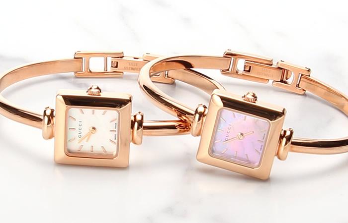 グッチ 腕時計 GUCCI 時計 グッチ 時計 GUCCI 腕時計 1400 レディース ピンク YA014516 YA014519 YA019520 YA019521 人気 ブランド 防水 高級 メタル ベルト ローズゴールド ピンクゴールド ホワイト シルバー ブレスレット シェル