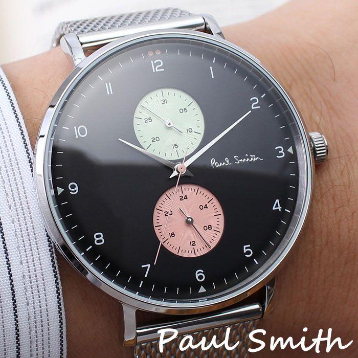 ポールスミス 腕時計 Paulsmith 時計 ポール スミス 時計 Paul smith 腕時計 トラック Track メンズ ブラック PS0070006 アナログ ピンク グリーン ラウンド メッシュ 人気 おしゃれ ファッション ブランド ギフト 送料無料