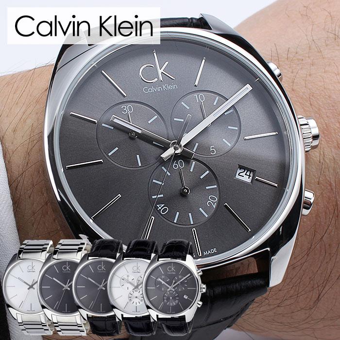 Calvin Klein Watch Calvinklein Clock Exchange Ex Men Zushi Rhubarb Rack K2f27107 K2f27120 Og Leather
