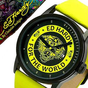 エドハーディー腕時計 Ed Hardy Ed Hardy 腕時計 エドハーディー 時計 PUNKED メンズ レディース 男女兼用時計 EDHARDY-PK-YW プレゼント 祝い 父の日 ギフト