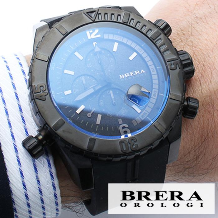 ブレラ 時計 BRERA 腕時計 ブレラオロロジ 腕時計 BRERAOROLOGI 時計 ブレラ オロロジ BRERA OROLOGI ブレラ時計 ブレラオロロジ腕時計 ソットマリノ ダイバー SOTTOMARINO DIVER メンズ時計 BRDVC4703 高級 人気 イタリア ブランド ブラック かっこいい おしゃれ 父の日