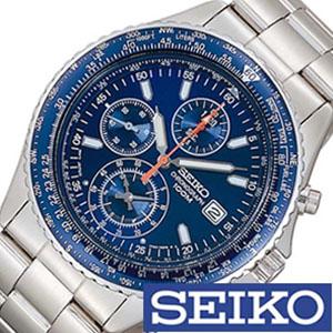 【延長保証対象】セイコー 腕時計 メンズ SEIKO 時計 セイコー 時計 セイコー 海外モデル セイコー 逆輸入 海外セイコー セイコー時計 SND255PC SND255P1 ブルー パイロットクロノグラフ ギフト 定番 防水 送料無料