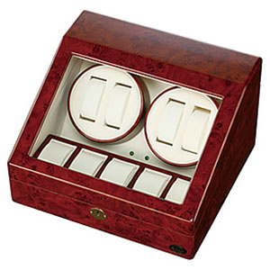 自動巻き上げ機 [自動巻き機]ワインディングマシーン 腕時計 時計 ワインディング マシン マシーン ウォッチワインダー ウォッチ 時計ケース 腕時計 ケース 腕時計ケース 木製 1本 2本 4本 木製4連[自動巻 メンズ 機械式 婦人 自動巻き][バーゲン プレゼント]