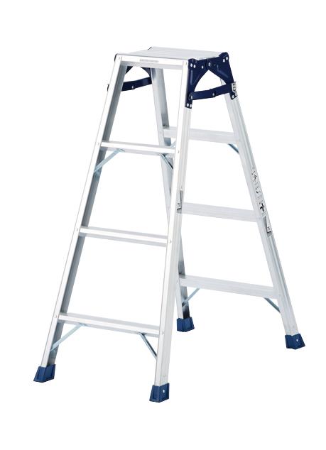 天板と設置寸法が広く、より安定感のあるはしご兼用脚立 CM-120C 4段 ( 4尺 脚立 梯子 はしご 折りたたみ 軽量 送料無料 安定感 )