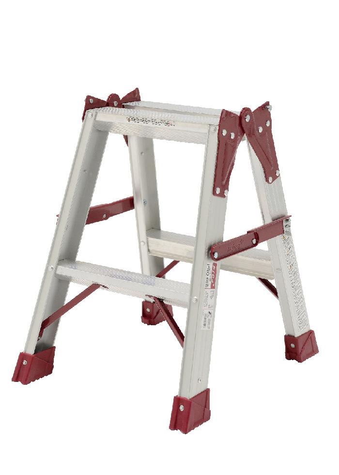 【毎月1日・15日・25日はP-starの日】  両面幅広踏ざん60mm 最大使用質量130kgの業務用 はしご兼用脚立 PRO-60B 2段 ( 2尺 脚立 梯子 はしご 折りたたみ 軽量 送料無料 )