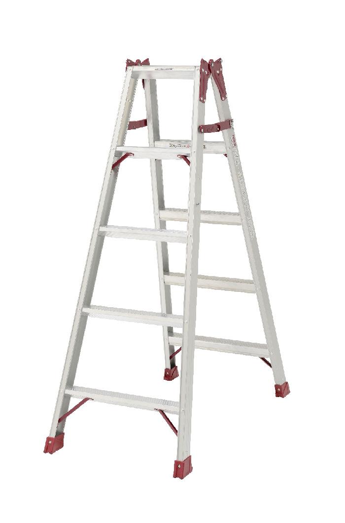 【毎月1日・15日・25日はP-starの日】  両面幅広踏ざん60mm 最大使用質量130kgの業務用 はしご兼用脚立 PRO-150B 5段 ( 5尺 脚立 梯子 はしご 折りたたみ 軽量 送料無料 )