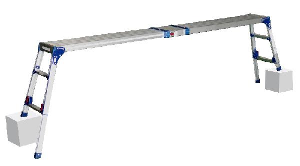 住宅の内装・外装工事、RV車・乗用車のお手入れ時の足場などに最適な足場台 DWV-SX90A ( 作業台 足場台 作業 工事 折りたたみ コンパクト 天場スライド 四脚アジャスト 安定 軽量 送料無料 )