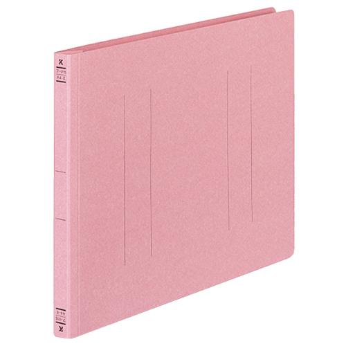 保持力が強く書類がズレにくい、樹脂製とじ具を採用。  コクヨ フラットファイルV(樹脂製とじ具) A4ヨコ 150枚収容 背幅18mm ピンク フ-V15P 1パック(10冊)
