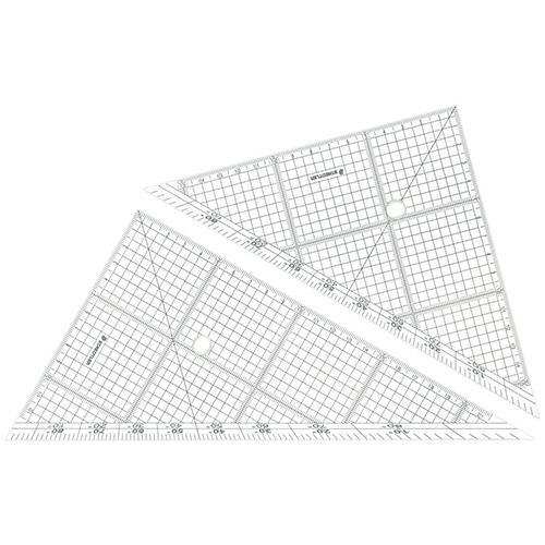 全ての辺に目盛入りで使いやすい5mmの方眼 ステッドラー 国内正規総代理店アイテム レイアウト用方眼三角定規 24cm 45° 1組 24 60°ペア お得なキャンペーンを実施中 966