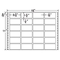 東洋印刷 ナナフォーム 連続ラベル Mタイプ 15×11インチ 24面 84×42mm MT15T 1箱(500折) 【送料無料】