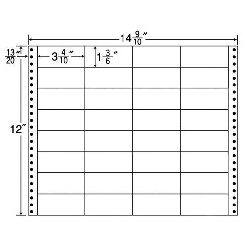 【お取寄せ品】 東洋印刷 ナナフォーム 連続ラベル Mタイプ 14.9/10×12インチ 32面 86×38mm MT14P 1箱(500折) 【送料無料】