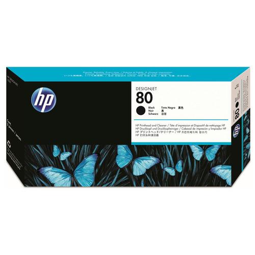 【お取寄せ品】 HP HP80 プリントヘッド/クリーナー ブラック C4820A 1個 【送料無料】