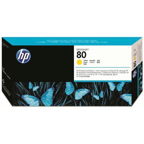 【お取寄せ品】 HP HP80 プリントヘッド/クリーナー イエロー C4823A 1個 【送料無料】