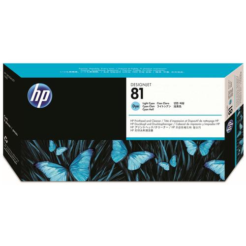 【お取寄せ品】 HP HP81 プリントヘッド/クリーナー ライトシアン C4954A 1個 【送料無料】