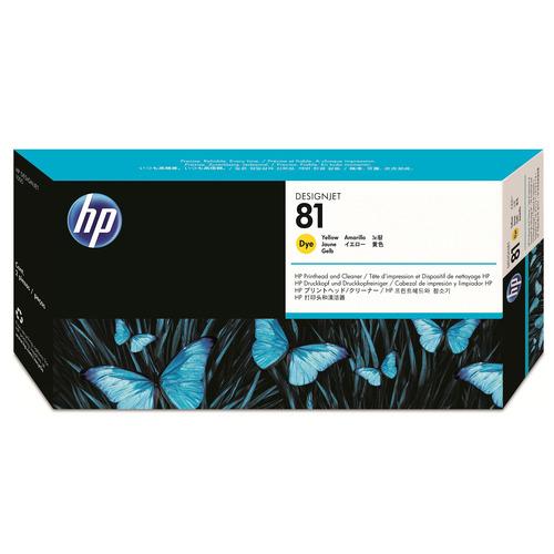 【お取寄せ品】 HP HP81 プリントヘッド/クリーナー イエロー C4953A 1個 【送料無料】