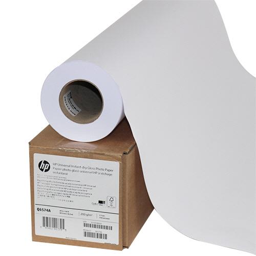 HP スタンダード速乾性光沢フォト用紙 24インチロール 610mm×30m Q6574A 1本 【送料無料】