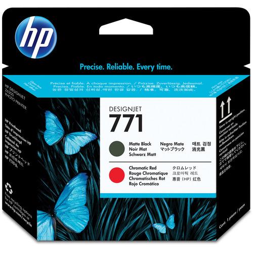 HP HP771 プリントヘッド マットブラック/クロムレッド CE017A 1個 【送料無料】
