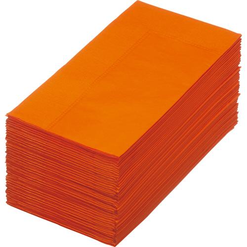 テーブルをおしゃれに彩る2枚重ねのカラフルナプキン カラーナプキン 2PLY 8つ折 50枚 マンダリン 1パック 再再販 激安超特価