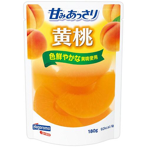 そのままはもちろん、ミキサーにかけて凍らせればおいしいジェラートに♪  はごろもフーズ 甘みあっさり 黄桃(パウチ) 180g 1パック