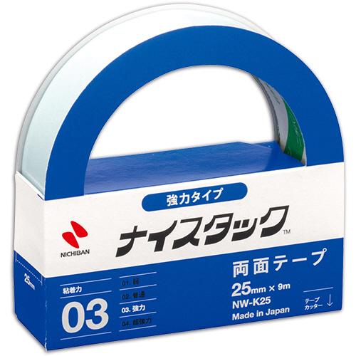 板紙も金属も平面接合ならパワフルに対応 ナイスタック 全商品オープニング価格 強力タイプ 期間限定 大巻 25mm×9m 1巻 NW-K25