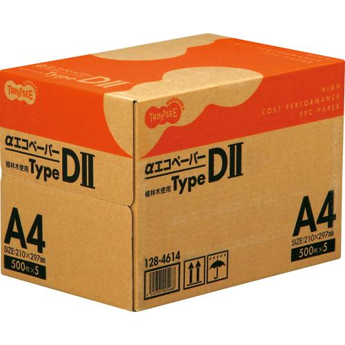 公式ストア 豪華な A3 A4 B4 B5サイズをご用意 自然な白さが目にやさしい 毎日使えるコピー用紙 TANOSEE αエコペーパー 2500枚:500枚×5冊 タイプDII 1箱