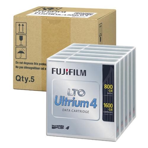 超薄層塗布型メタル技術「ATOMM」採用  富士フイルム LTO Ultrium4 データカートリッジ 800GB LTO FB UL-4 800G UX5 1パック(5巻) 【送料無料】
