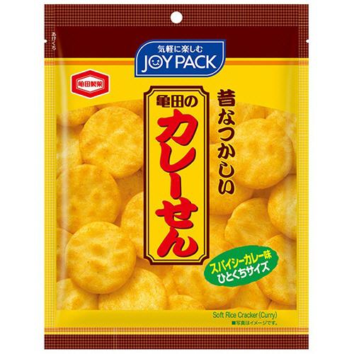 旨味のあるマイルドな辛さに特製スパイスをピリッと効かせたカレーせんべいです。  亀田製菓 亀田のカレーせんミニ ジョイパック 52g 1袋