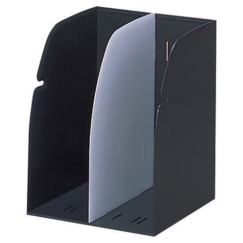 デスクでもキャビネットでも。連結可能なカラーブックスタンド。  リヒトラブ リクエスト ブックスタンド 2ブロック 黒 G1620-24 1個