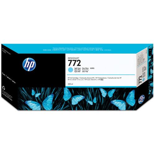 HP HP772 インクカートリッジ ライトシアン 300ml 顔料系 CN632A 1個 【送料無料】