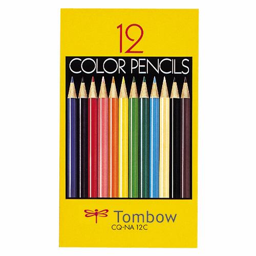 紙箱入 スタンダードな色鉛筆セット トンボ鉛筆 激安格安割引情報満載 2020新作 色鉛筆 紙箱 各色1本 12色 1箱 CQ-NA12C