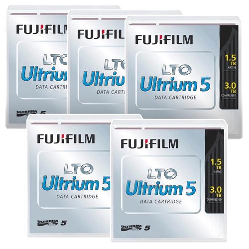 EDPラベル付LTO Ultriumテープ お取寄せ品 富士フイルム LTO Ultrium5 ついに入荷 データカートリッジ バーコードラベル 縦型 FB UL-5 付 国内送料無料 5巻 1パック 送料無料 OREDPX5T 1.5TB
