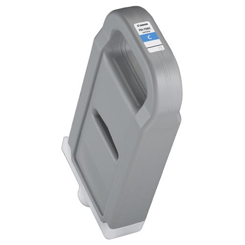 【お取寄せ品】 キヤノン インクタンク PFI-706C 顔料シアン 700ml 6682B001 1個 【送料無料】