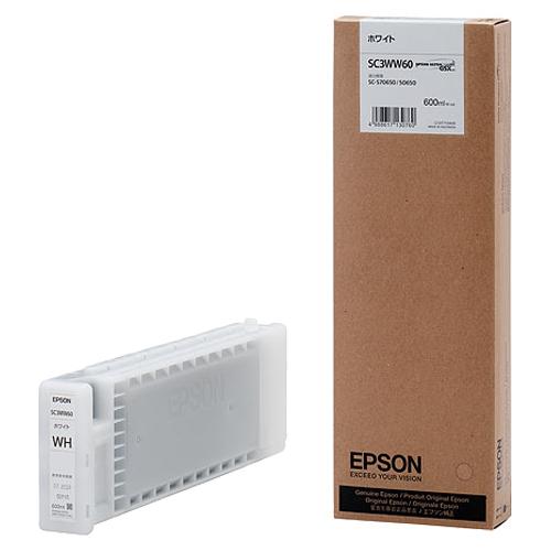 【お取寄せ品】 エプソン インクカートリッジ ホワイト 600ml SC3WW60 1個 【送料無料】