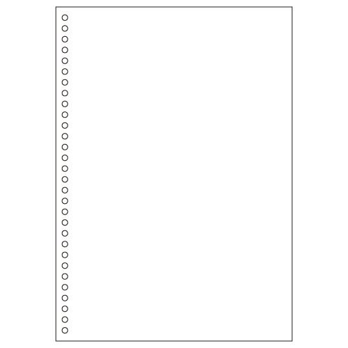【お取寄せ品】 ヒサゴ マルチプリンタ帳票(FSC森林認証紙) A4 白紙 30穴 FSC2049Z 1箱(1200枚) 【送料無料】