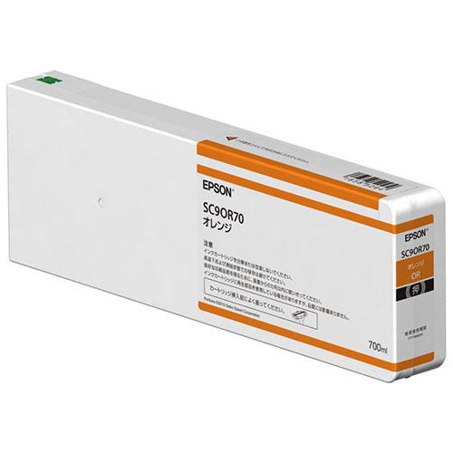 【お取寄せ品】 エプソン インクカートリッジ オレンジ 700ml SC9OR70 1個 【送料無料】