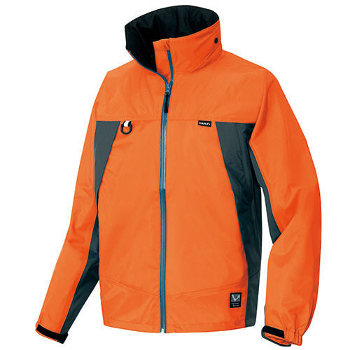 【お取寄せ品】 アイトス 全天候型ジャケット オレンジ×チャコール Lサイズ AZ-56301-063-L 1着 【送料無料】