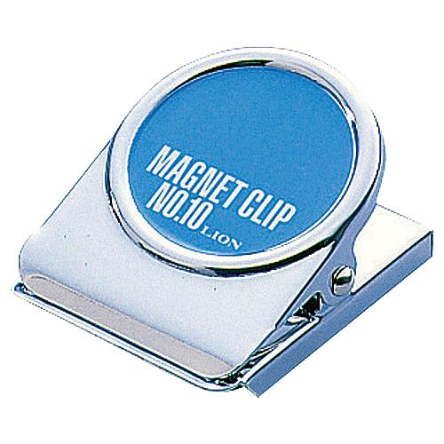 スチール製のしっかりしたマグネットクリップ AL完売しました ライオン事務器 正規激安 マグネットクリップ 裏面マグネット付 1個 W50×D65×H35mm CS-10